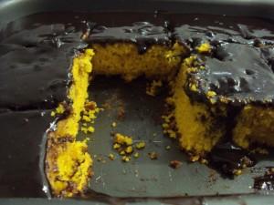 tarta de zanahoria y chocolate receta